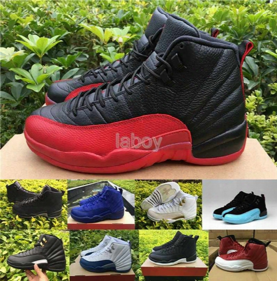 2016 Retro 12 Basketball Shoes For Women & Men,high Quality Xii Boots Sports Shoes 12s Ovo Black French Blue The Master Gym-red Sneakers