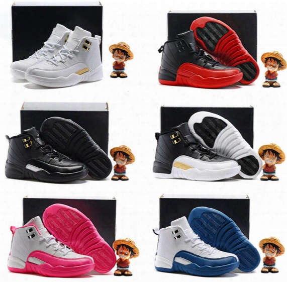 2016 Retro 12 Xii French Blue Master Ovo Kids Basketball Shoes Girl Boy 12s Retros High Quality Sport Shoes Youth Basketball Sneakers 11c-3y