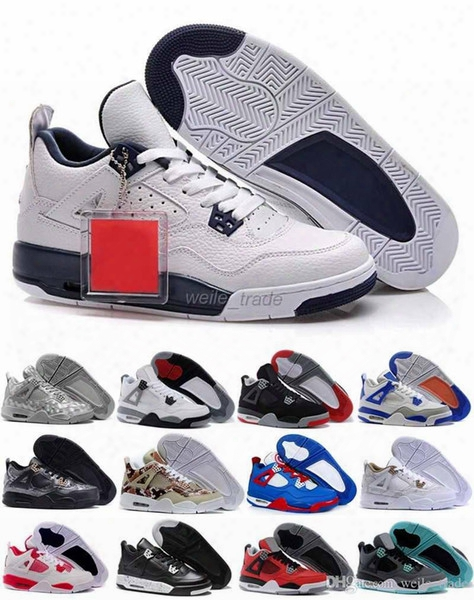 2016 Retro 4 Mens Basketball Shoes Red Black High Quality Sneakers Retros Iv Sport Shoes Outdoor Trainers Athletic Sneakers