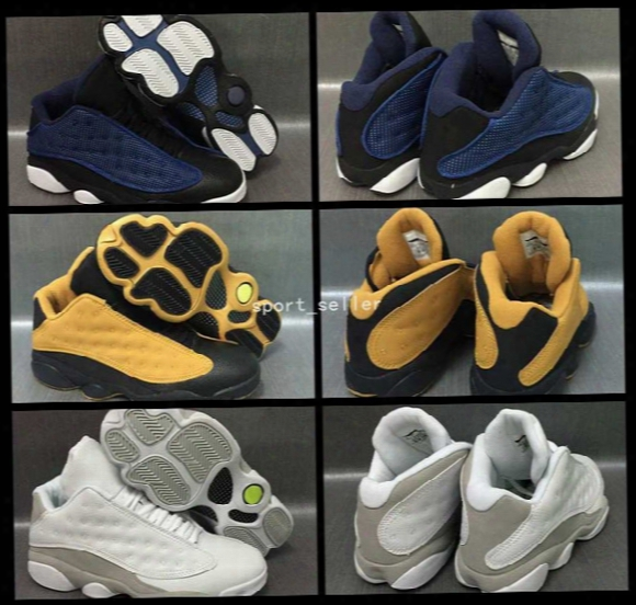 2017 Air Retro 13 Xiii Low Navy Blue Chutney Wheat Yellow White Cat Mens Basketball Shoes Retros 13s Basket Ball Sports Sneakers 8-13