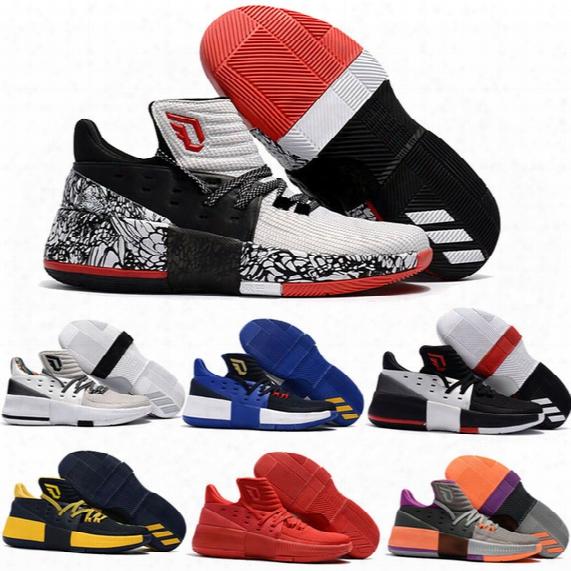 2017 D Lillard 3 Low Men Basketball Shoes Top Quality Damian Lillard 3 Iii Pe Bhm Training Sports Sneakers Size Us7-us12