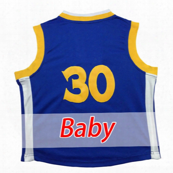 2017 Embroidery Logos Baby Stephen 30 Basketball Jersey 100% Stitched Youth Stephen 30 Jersey Cheap Wholesale Embroidery Logos Free Shipping