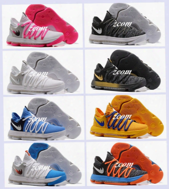 2017 Fmvp Correct Version Kevin Kd X 10 Elite 8 Playoffs Mens Basketball Shoes Warriors Home Wolf Durant 10s Training Sport Sneakers