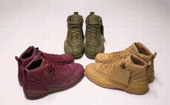 2017 Hottest Public School Psny X Air Retro 12 Bordeaux And Burgundy Psny Purple Green Wheat Retros 12s Wine Red Mens Basketball Shoes