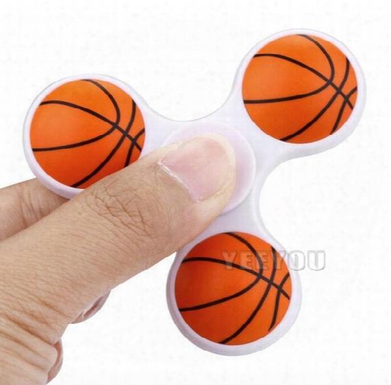 2017 Kids Football Basketball Fidget Spinners Hand Spinner Plastic Handspinner Spiral Gyro Fingers Toy Tip Tops Toys
