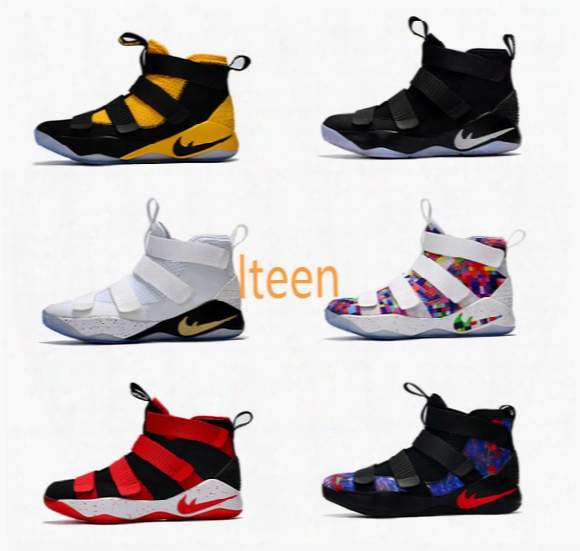 2017 New Arrival James Soldiers 11 Limited Edition Mens Basketball Men Designer Shoes Xi Sports Training Sneakers Cheap Sale Size 8-12