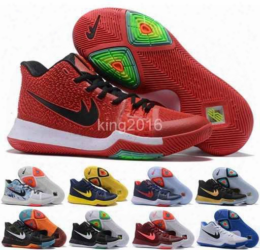 2017 New Arrival Kyrie Irving 3 Signature Game Basketball Shoes For Men Top Quality Menskyrie 3s Air Cushion Sports Training Sneakers 40-46