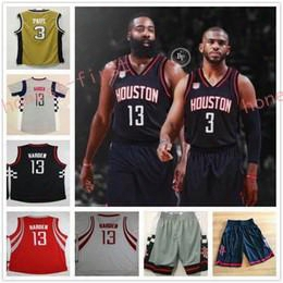 2017 New Hot #3 Chris Paul Jersey Cheap College #13 James Harden Red White Gray Black Basketball Jersey Shorts Dream Team Drak Blue