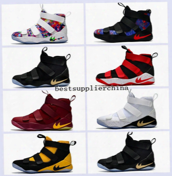 2017 New Limited Edition James Fashion Soldiers 11 Mens Basketball Shoes High Quality Chameleon Xi Soldier 11s Lbj Sports Training Sneakers