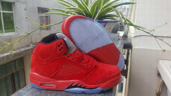 2017 New Retro 5 Red Suede 5s Fire & Ice 3m Reflect Basketball Shoes Men High Quality University Blood Red Sneakers With Shoes Box