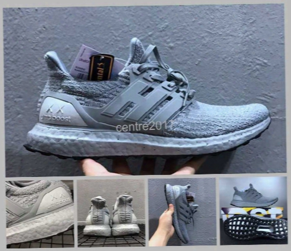 2017 Newest Kaws X Ultra Boost 3.0 Ba8144 Triple Grey White Running Shoes Mens Real Boost Xx Ultra Boosts Sneakers 39-45