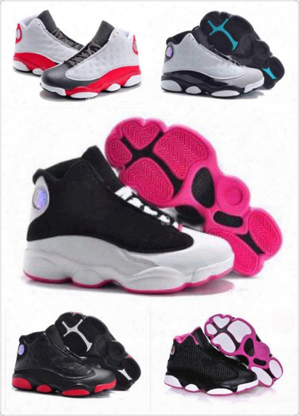 2017 Newr Retro 13 Kids Shoes Children 13s Boys Basketball Shoes Grils Sports Shoes Youth Sports Retro 13s Children's Sneakers Size 28-35