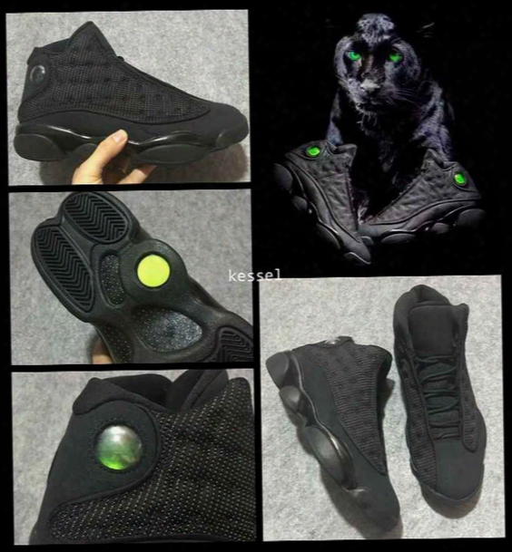 2017 Retro 13 Xiii Og Black Cat Men Basketball Shoes 3m Reflect Retros 13s Mens Athletics Sports Sneakers High Quality Trainers Size 7-13
