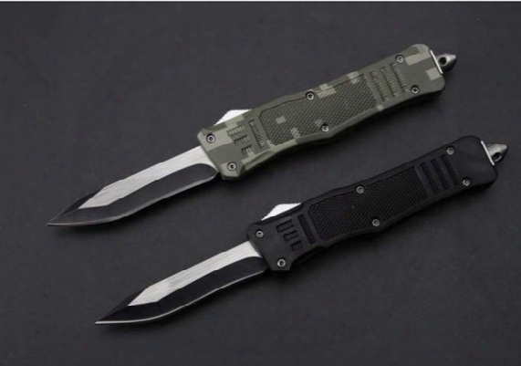 "7"" Microtech 616 Single Sheepsfoot Point Blade Troodon Small Edition A161 Scarab 3300 3310 Camping Ourdoor Survival Knife Knives"