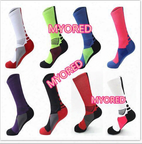 04d62d0e078 8 Color Usa Professional Elite Basketball Socks Long Knee Athletic Sport  Socks Mens Brands New Thick Towel Bottom Compres Sion Thermal Socks