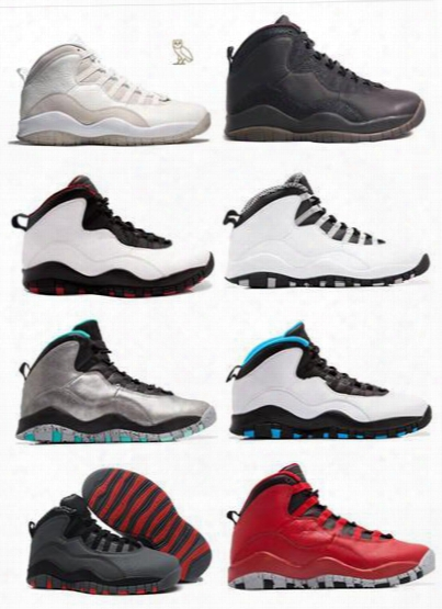 Air Retro 10 Men Basketball Shoes Steel Grey Ovo White Black 10s Trainers Powder Blue Lady Liberty Chicago Gs X Fusion Red Bobcats