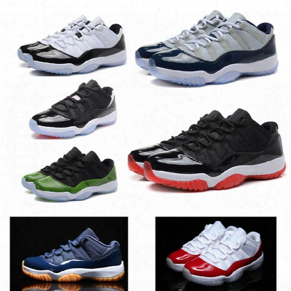 Air Retro 11 For Men Low Cut Basketball Shoes Xi 72-10 Concord Varsity Red Navy Gum Bred Georgetown Infrared Athletics Sneakers