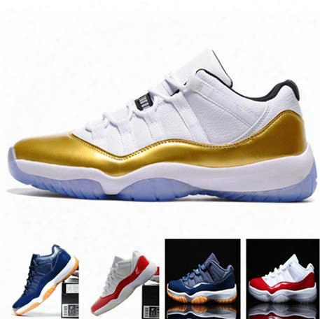Air Retro 11 Low Varsity Red Navy Gum Top Quality Man And Woman Basketball Shoes Retro 11 Sports Shoes Size Eur 36-47