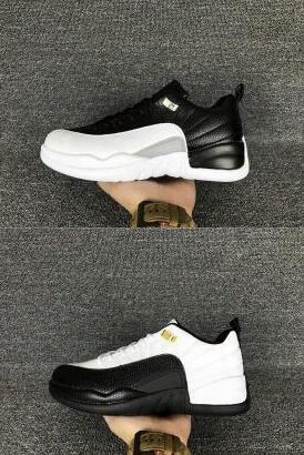 Air Retro 12 Xii Low Playoffs Taxi Black White Grey Gold 2017 Men Boy Basketball Sport Shoes Wholessale Sneakers Size 8 13 Cheap