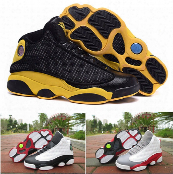 Air Retro 13 Black White Gray Top Quality Man Basketball Shoes Retro 13s Sport Shoes Size Eur 41-47