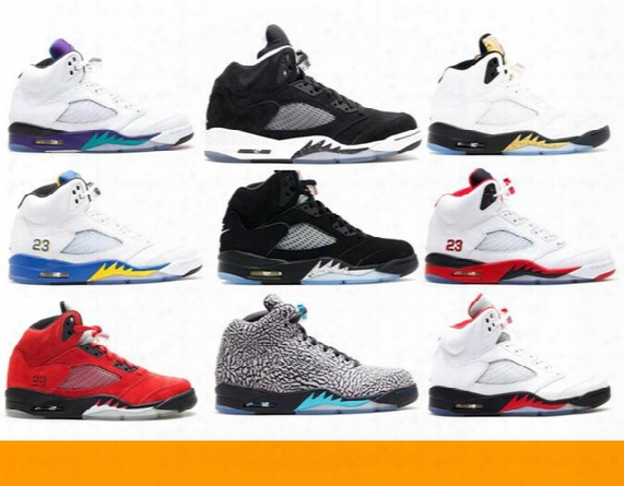 Air Retro 5 Og 2016 Release Olympic Gold 3lab5 Oreo Laney 2013 Release Raging Bull Red Suede Grape 2013 Release Basketball Shoes