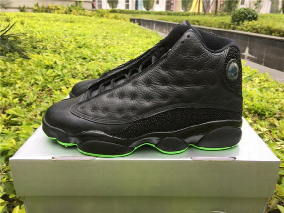 Basketball Shoes Retro 13 Black And Green 414571-030 Athletic Shoes