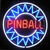 Blue Pinball Neon Sign Real Glass Tube Display Beer Bar Handicraft Signs Light Club Store