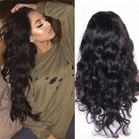 Body Wave Brazilian Lace Front Wigs/glueless Full Lace Human Hair Wigs Natural Color For Black Women Bleached Knot