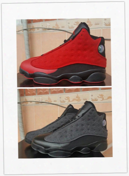 Brand Retro 13 Black And Red Mens Basketball Shoes Online Wholesale Xiii 13s Boy Sneakers Wool Design Good Quality Free Shipping