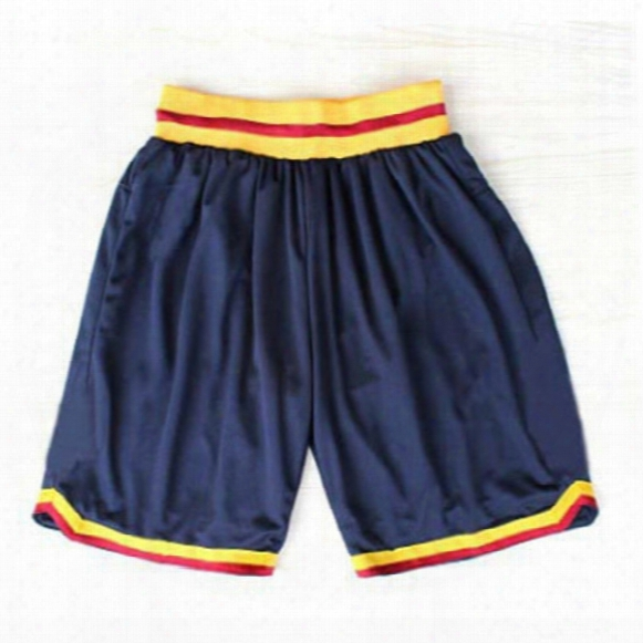 Cavaliers Basketball Shorts Stitched Logo Embroidery New Material Rev 30 Sports Shorts Mix Order Free Shipping