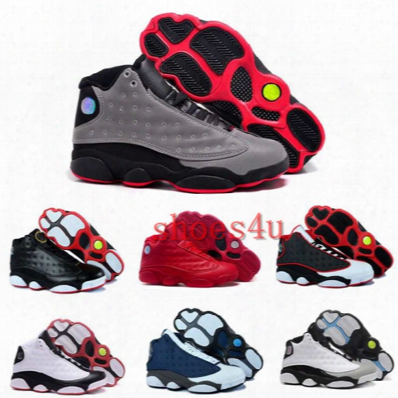 Cheap Air Retro 13 Basketball Shoes Men Outdoor Sneakers Black Oreo Shoes 13s Xiii Man Basketball Sports Shoes Us8-13