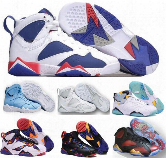 Cheap Retro 7 Basketball Shoes Sneakers New Women Men Real Authentic Retros Shoes Replica Zapatos Mujer Homme Retro 7s Vii