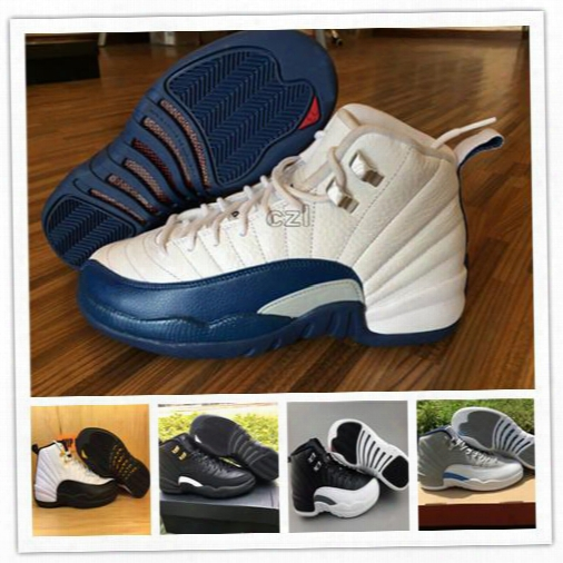 Cheap Retro Xii 12 Basketball Shoes Men Women 12s Ovo White 12s Gym Red Gamma Blue Wolf Grey Flu Game Taxi Playoffs Sport Shoes With Box