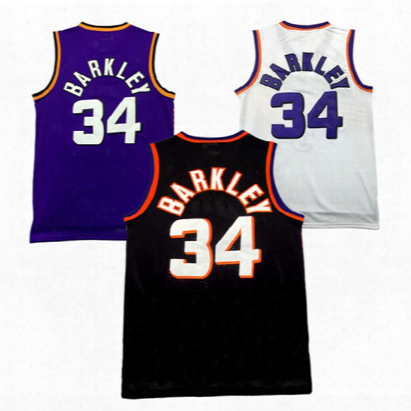 Cheap Steve Nash Jersey Charles Barkley Jersey 34# Retro Basketball Jerseys High-quality Embroidery Logos Free Shipping