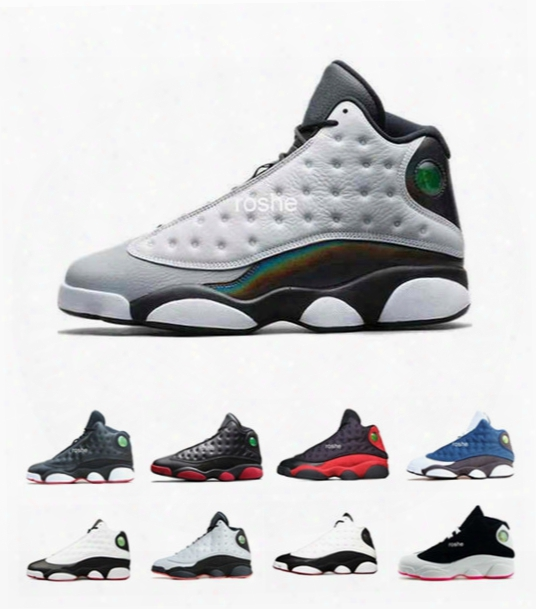 Classical Retro 13 Bred Flint Grey Toe Black Infrared Men Womens Basketball Shoes, Brand New Retro 13 Xiii Sneakers 13s Eur Size 36-47