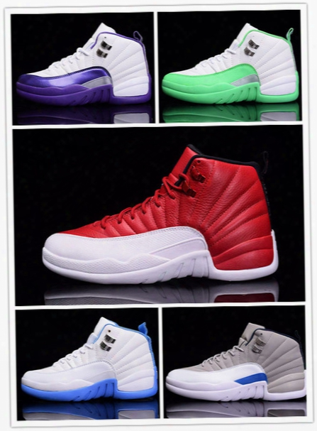 Discount 2016 New Retro 12 Basketball Shoes Men Women Sneakers Sale Taxi Playoffs Gamma White Gray Sports Shoes Retro 12s Xii Replicas