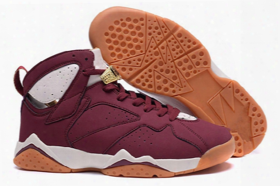 Drop Shipping 2016 Wholesale Air Retro 7 Cigar 7s Hare Bugs Bunny White Brown Men Basketball Shoes Sports Sneakers Size 8-13