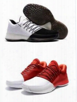 Drop Shipping James Harden 1 Vol.1 Gold Black Whte Red Home Aaaa Basketball Shoes Wholesale Size 7 12 Sneaker Boost 2016 New Arrive