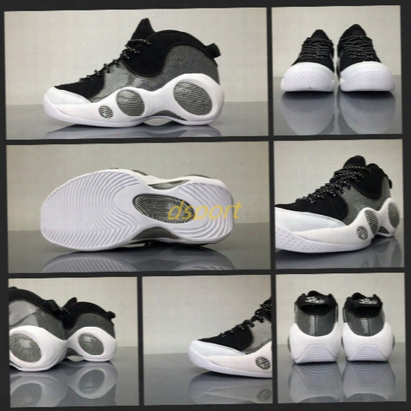 Dropshipping Air Zoom Flight 95 Se Basketball Shoes Designed For Men Black University Red Gray Running Sneakers Big Eyes Training Shoes