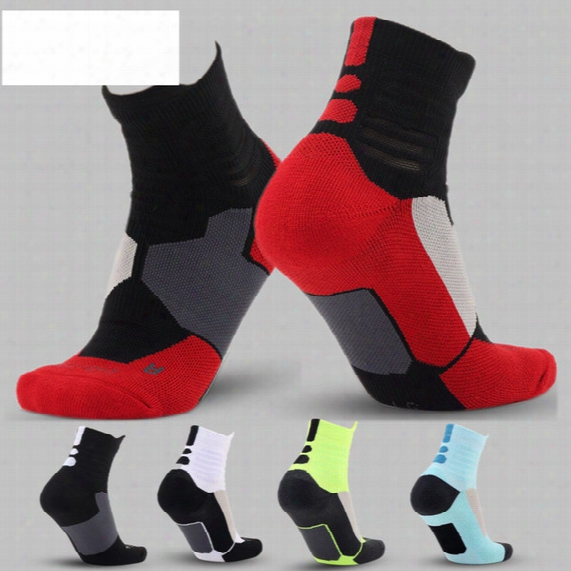 Elite Professional Basketball Socks With Thick Towel Obttom Socks Men Socks Long Campaign