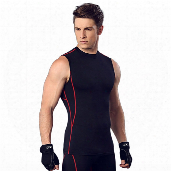 Fitness Suits Men 's Basketball Running Suits Elqstic Compression Fast - Drying Sports Tihts
