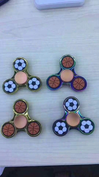 Football And Basketball Edc Hand Spinner Finger Toys For Fidget Spinner Aluminium Alloy Metal Gyr Decompression Anxiety Toys With Retail P