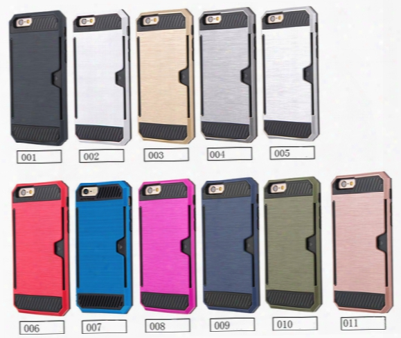 For Iphone 5 5s 6s S7 7 Plus Drawing Armor Case Hybrid Armor Creative Mobile Phone Protective Cover Dual Layer Card Pocket Anti-drop