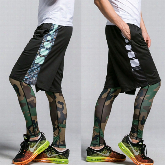 High Quality Basketball Training Shorts Men Large Sports Shorts Summer Loose Knee-length Breathable Black Running Short Trouser