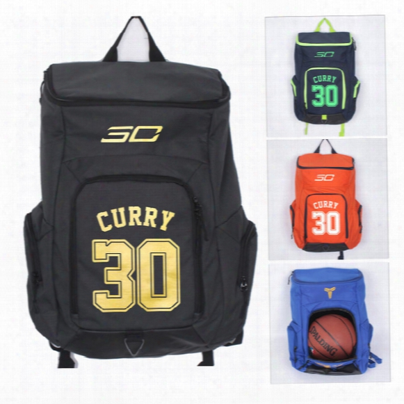 High Quality New Stephen Curry 30 Gym Backpack Sports Bag Schoolbag Basketball Football Bags 5 Colors