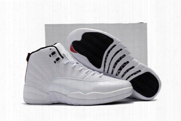 High Quality Retro 12 Rising Sun White/varsity Red-black Silver Basketball Shoes Men 2016 Cheap 12s Sneakers For Sale With Shoes Box