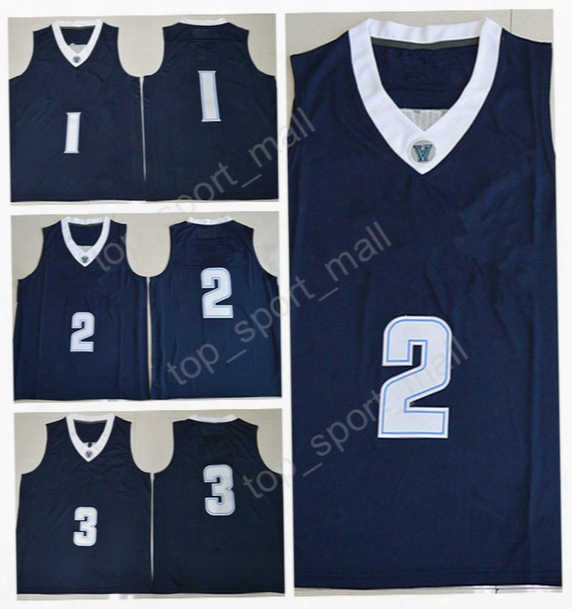 High Quality Villanova Wildcats College Jerseys Basketball 1 Kyle Lowry 2 Kris Jenkins 3 Josh Hart Jersey Sport Navy Blue With Player Name