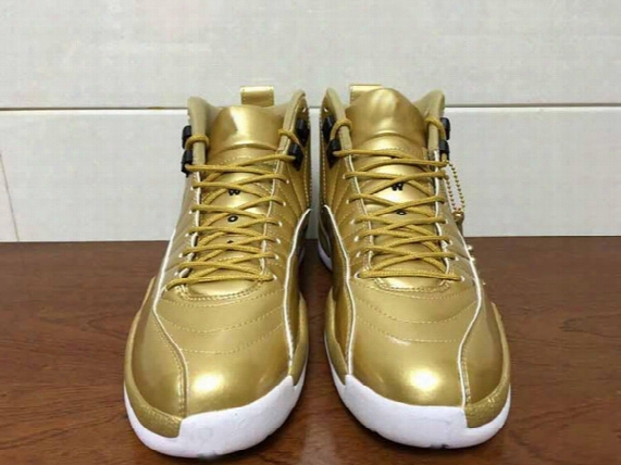 Hot Sale Drop Shipping Air Retro 12 Pinnacle With Real Carbon Fiber Gold Men Basketball Sport Shoes Size 41-47 With Jumpman