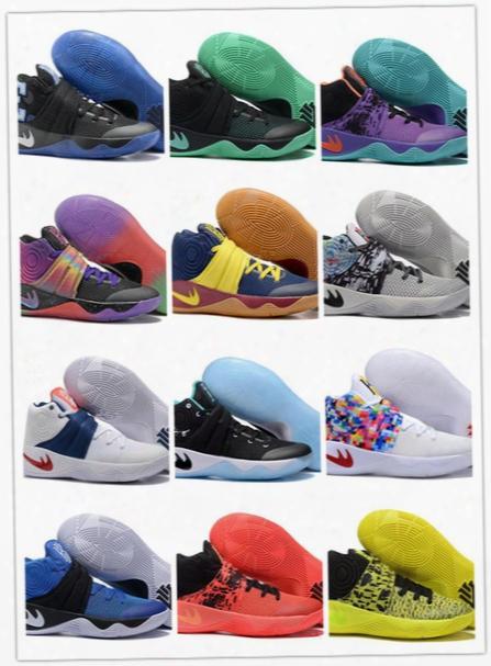 Hot Sale Size 7 11 Wholesale Kyrie Irving 2 Duke Black Goldâbhmâtour Parade Championshipâbasketball Shoes High Quality Freeâshipping