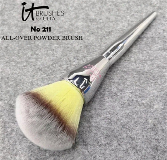 It Cosmetics Makeup Brushfor Ulta #211 Life Beauty Fully All Over Powder Make Up Blending Contour Brush Kit Factory Price